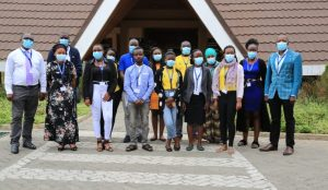 Group photo of KEWASNET secretariat and members during the WASPA Youth and Women WASH Conference 2021